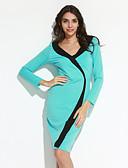 preiswerte Damen Kleider-Damen Übergrössen Hülle Kleid Einfarbig