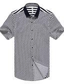 billige T-shirts og undertrøjer til herrer-Herre - Stribet Arbejde Skjorte