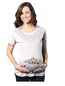abordables Tops-Mujer Casual Estampado - Algodón Camiseta Un Color