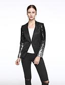 ieftine Blazere-Pentru femei În V Mărime Plus Size Blazer Ieșire Sofisticat Mată,Paiete