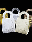 baratos Suporte para Lembrancinhas-Redonda Quadrada Cubóide Papel de Cartão Suportes para Lembrancinhas com Estampado Caixas de Ofertas