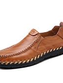 abordables Pantalones y Shorts de Hombre-Hombre Mocasines de Confort Cuero Primavera / Otoño Confort Zapatos de taco bajo y Slip-On Paseo Listo para vestir Negro / Marrón Claro / Borgoña
