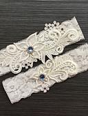 hesapli Gelinlikler-Dantelalar Klasik / Moda Düğün tokmak İle Taşlı / Dantel Jartiyerler