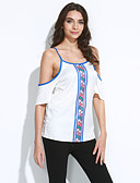 cheap Women's Tanks-Women's Going out Basic T-shirt - Tribal Cut Out / Print / Summer