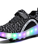 cheap Men's Swimwear-2017 Kids Boy Girl's Roller Skate Shoes / Ultra-light One Two Wheel Skating LED Light Shoes / Athletic / Casual LED Shoes Black Pink Blue