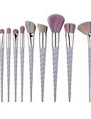 baratos Calças Femininas-10pçs Pincéis de maquiagem Profissional Conjuntos de pincel / Pincel para Blush / Pincel para Sombra Pêlo Sintético / Escova de Fibra