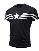abordables Camisetas y Tops de Hombre-Hombre Activo Punk & Gótico Deportes Estampado - Algodón Camiseta, Escote Redondo Delgado