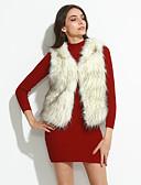 baratos Trench Coats e Casacos Femininos-Mulheres Tamanhos Grandes Colete Básico-Sólido