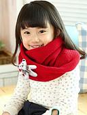 お買い得  子供用 スカーフ-子供 女の子 ニット スカーフ フクシャ / レッド フリーサイズ