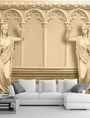 olcso Női pántos felsők és atléták-Art Deco 3D lakberendezési Κλασσική Falburkolat, Vászon Anyag ragasztószükséglet Falfestmény, szoba Falburkoló