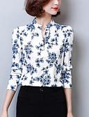 abordables Camisas y Camisetas para Mujer-Mujer Chic de Calle Trabajo Estampado Blusa, Escote en Pico / Primavera / Otoño