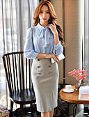 お買い得  スカート-女性用 ストリートファッション ワーク ペンシルベイト / ボディコン スカート - ソリッド, スリット