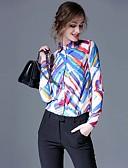 billige Skjorter til damer-Skjortekrage Skjorte Dame Trykt mønster Arbeid