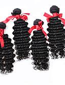 رخيصةأون Women's Sexy Clothing-4 حزم شعر برازيلي تمويخ خفيف شعر مستعار طبيعي ينسج شعرة الإنسان ينسج شعرة الإنسان شعر إنساني إمتداد