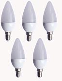 Χαμηλού Κόστους Λουλουδάτα φορέματα για κορίτσια-EXUP® 5pcs 9W 550-600lm E14 LED Λάμπες Κεριά C37 12 LED χάντρες SMD 2835 Θερμό Λευκό Ψυχρό Λευκό 110-130V 220-240V