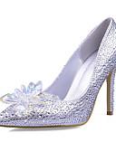 abordables Vestidos de Noche-Mujer Zapatos Sintético / Purpurina Primavera / Verano Tacón Stiletto Cristal / Cuentas / Purpurina Plata / Boda / Vestido / Fiesta y Noche