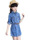 preiswerte Kleider für Mädchen-Mädchen Kleid Sport Punkt Baumwolle Frühling Herbst Ganzjährig Langarm Punkt Blau