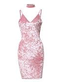 preiswerte Haben Sie eine Verabredung?-Damen Klub Bodycon Kleid Solide Mini Gurt / Sexy / Skinny
