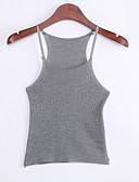 baratos Vestidos de Mulher-Mulheres Moda de Rua Colete - Sólido