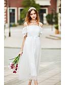 baratos Vestidos de Mulher-Mulheres Solto Vestido Sólido Médio