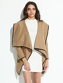 cheap Women's Coats & Trench Coats-Women's Basic Coat-Solid Colored