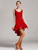 preiswerte Tanzkleidung für Balltänze-Latein-Tanz Kleider Damen Leistung Spitze Spitze Ärmellos Hoch Kleid