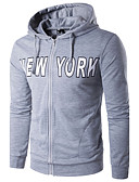 cheap Men's Hoodies & Sweatshirts-Men's Long Sleeves Hoodie - Letter, Modern Style Round Neck