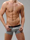 baratos Roupas Íntimas e Meias Masculinas-Homens Cueca Boxer Sólido 1 Peça Natural