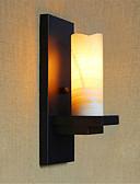 رخيصةأون ساعات رجالية-زهري / رجعي مصابيح الحائط معدن إضاءة الحائط 110-120V / 220-240V 40W