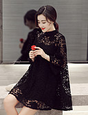 cheap Women's Dresses-Women's Going out Loose Blouse - Solid Colored Lace / Fall