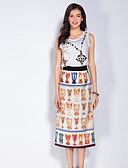 abordables Vestidos de Mujeres-Mujer Camisa - Geométrico Falda