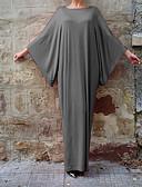 baratos Vestidos de Mulher-Mulheres Para Noite Manga Morcego Solto Vestido Sólido Longo / Verão