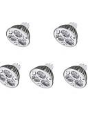 رخيصةأون كنزات هودي رجالي-5pcs 3W 300-400lm LED ضوء سبوت MR16 3 الخرز LED أبيض دافئ أبيض كول 12V