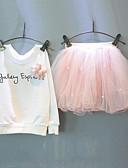 cheap Girls' Dresses-Kids Girls' Street chic Floral Beaded Print Long Sleeve Clothing Set