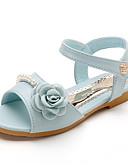 halpa Morsiusneitojen mekot-Tyttöjen Kengät Nahka / PU Kevät kesä Comfort Tasapohjakengät varten Beesi / Pinkki / Vaalean sininen