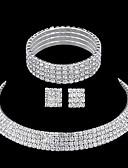 tanie Kwarcowy-Rhinestone Biżuteria Ustaw - Kryształ górski Zawierać Silver Na Ślub / Impreza / Casual