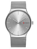 cheap Dress Watches-CURREN Men's Wrist Watch Casual Watch / / Alloy Band Casual / Fashion / Minimalist Silver / Gold