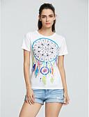 baratos Camisetas Femininas-Mulheres Camiseta Moda de Rua Costas Nadador Estampado