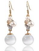 お買い得  ファッションスカーフ-女性用 猫の目クリソベリル スタッドピアス  -  真珠, オパール 自然, 欧風, ファッション ホワイト 用途 日常