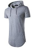 billige Herreskjorter-Bomull Med hette T-skjorte Herre - Ensfarget Sport