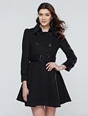 preiswerte Damenmäntel und Trenchcoats-Damen Volltonfarbe Mantel Moderner Stil