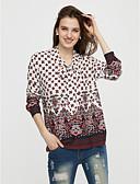 cheap Mother of the Bride Dresses-Women's Cotton Shirt Print Shirt Collar