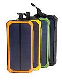 Недорогие Внешние аккумуляторы-солнечная батарея водонепроницаемый 16000 мАч солнечное зарядное устройство с двумя портами usb внешнее зарядное устройство powerbank для смартфона со светодиодной подсветкой