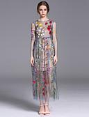 baratos Vestidos Femininos-Mulheres Fofo Solto Vestido Floral Médio