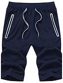 tanie Męskie spodnie i szorty-Męskie Aktywny Rozmiar plus Bawełna Luźna Krótkie spodnie Spodnie Jendolity kolor