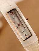 cheap Quartz Watches-Women's Wrist Watch Ceramic Band Fashion Gold