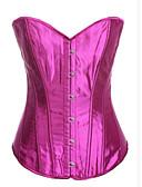 זול הלבשה תחתונה אופנתית-בגדי ריקוד נשים קרס מחוך מעל החזה מידה גדולה אחיד - בינוני (מדיום) פוליאסטר שחור סגול כחול ים