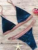 cheap Women's Swimwear & Bikinis-Women's Halter Bikini - Patchwork