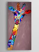 baratos Calcinhas-Pintados à mão Animal Vertical,Modern 1 Painel Tela Pintura a Óleo For Decoração para casa