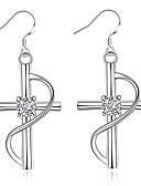 preiswerte Hüte-Damen Synthetischer Diamant Tropfen-Ohrringe - versilbert Kreuz Euramerican Für Alltag